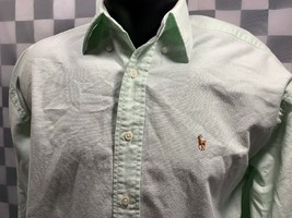 Ralph Lauren The Big Oxford Botón Frontal Verde Lima Camisa Hombre Talla 4 - $14.02