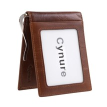 Men's 11 Cards Slots RFID Blocking Slim Wallet Small Leather Bifold Fron... - $24.54