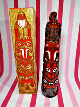 Groovy 1970's Avon Totem Pole Decanter Deep Woods After Shave + Original Box - $10.00