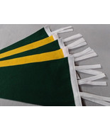 Buy one or 100- 9 X 24 Green - Gold Blank Felt Pennants with Tails - Choose your - $1.75