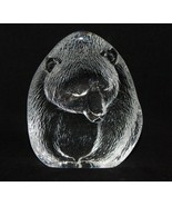 Mats Jonasson Sweden Glass Grizzly Bear Large Paperweight # 3144 - $59.40