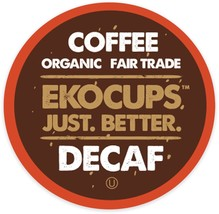 EkoCups Artisan Organic DECAF Light Coffee 40 or 80 Keurig K cups Pick Size  - $34.99+