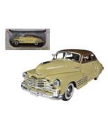 1948 Chevrolet Fleetline Aerosedan Beige 1/32 Diecast Car Model by Signa... - $28.41