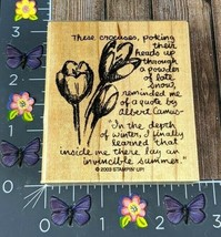 Stampin' Up! These Crocuses Perking Their Heads Rubber Stamp 2003 Summer #N159 - $6.68