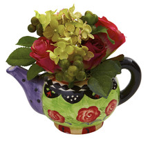 Rose & Hydrangea w/Decorative Vase - $38.24