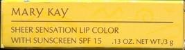 Mary Kay Sheer Sensation Lip Color SPF 15- Peachy Sheen w/ Sunscreen - $5.34