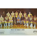 1972-73 Originale Sears Los Angeles Lakers Team Foto West Chamberlain Ri... - $59.91