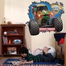 Birthdayexpress Monster Jam Room Decor - Grave Digger 3D Giant Wall Deca... - £31.98 GBP