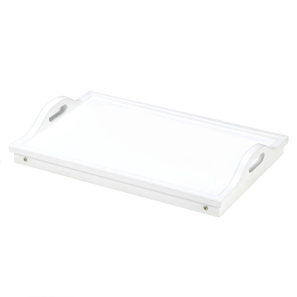 WHITE FOLDING SERVING TRAY Portable Breakfast in Bed Table