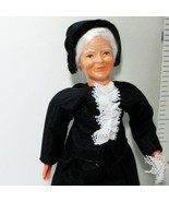Dressed Victorian Granny Doll 1158 All-Blk Outf Caco Flexible Dollhouse ... - $37.36