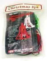 Vintage Fibre-Craft Macrame Mistletoe Bell Christmas Kit Holiday Craft Project - $12.95