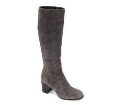 Kenneth Cole Women Knee High Boots Justin Low Boot Size US 6.5M Asphault Suede - $110.00