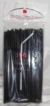 Straws Flex / Flexible Drinking Straws - Black - Luau - Wedding Receptio... - $10.56 CAD+