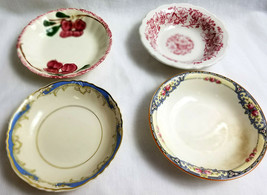 4 Assorted Vintage Old China Soup Salad Dessert Bowls Collectors Lot  - $30.95