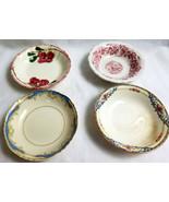 4 Assorted Vintage Old China Soup Salad Dessert Bowls Collectors Lot  - $30.95