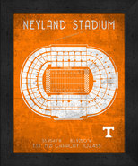 "Tennessee Vols Neyland ""Retro"" Stadium Seating Chart 13x16 Framed Print  - $39.95"