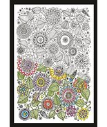 """Design Works-Zenbroidery Stamped Embroidery 10""""X16"""", Large Floral - $19.99"""