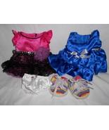 Build a Bear Clothes Lot Dresses Sketchers Twinkle Toes Shoes Blue Pink ... - $15.80