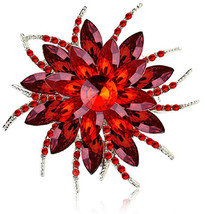 Ailer Fashionable Brooch Pins for Women with Created Crystal Bouquet Blo... - $34.68