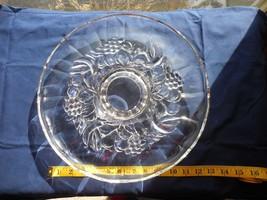 "Indiana Glass Garland Fruit Pedestal Torte Cake Serving Platter Plate 13"" - $15.88"