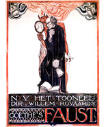 Faust, Het Tooneel, devil wit mirror Decor Poster.Home Graphic Art Desig... - $11.30+