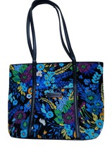 Gifts for Women Vera Bradley Small Trimmed Vera Tote Handbag Midnight Bl... - £103.79 GBP