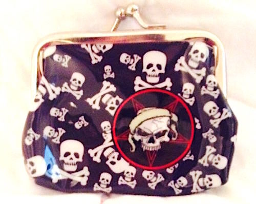Primary image for Cool Skull and Crossbones  Character Coin Purse— More Fun Character Coin Purses