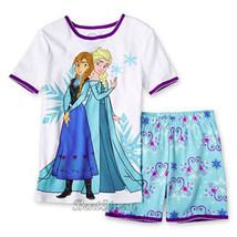 Disney Frozen Elsa & Anna 2 Piece Pajama Short Set Sz 5 - $24.99