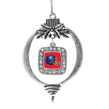 Inspired Silver Red and Blue Team Helmet Classic Holiday Decoration Christmas Tr - $14.69