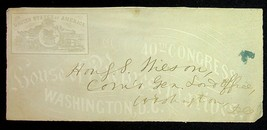 1867 United States House Of Representatives 40th Congress Cover Washingt... - $18.00