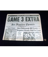 San Francisco Chronicle Ottobre 17 1989 World Terremoto Serie Gioco 3 Gi... - $98.73
