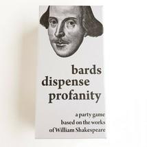 Bards Dispense Profanity Party Game Based on Shakespeare Works NEW SEALED - $14.99