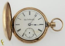 Gold Filled Elgin Full Hunter Pocket Watch 11 Jewels Size 18S 1888 Gr: 102 - $985.80