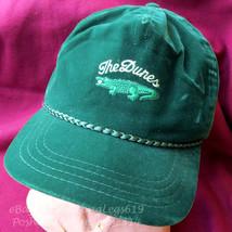 Vintage 1980s Dunes Golf CC Velour Velvet Strapback Hat Cap Alligator Ro... - $27.88