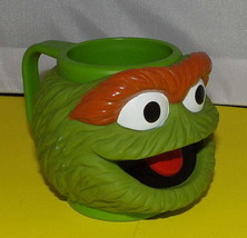 Sesame Street OSCAR the GROUCH Figural Composite Plastic Cup Mug by Applause - $9.59