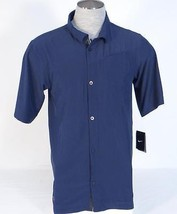 Nike Dri Fit Navy Blue Lightweight Short Sleeve Button Front Shirt Mens NWT - $44.99