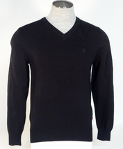 Izod  Black V Neck Cotton Long Sleeve Sweater Men's NWT - $48.74
