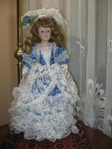 Vintage Porcelain Blonde Beatrice Princess Doll Europe 45 CM - $67.54