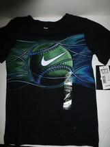 Nike Boys Black Baseball Graphic Short Sleeve T Shirt 86A907 New Size 4  - $11.87