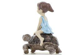 Hagen Renaker Specialty Turtle Girl Riding Tortoise Ceramic Figurine image 5