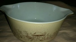 Vintage Pyrex 475 B Forest Fancies Mushroom Pattern Mixing Nesting Bowl  - $24.74