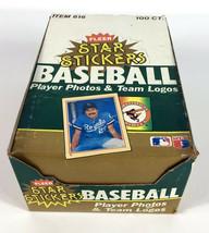 1984 Fleer Star Stickers Baseball Box - 100 Packs - 6 Player 1 Logo Per ... - $59.99