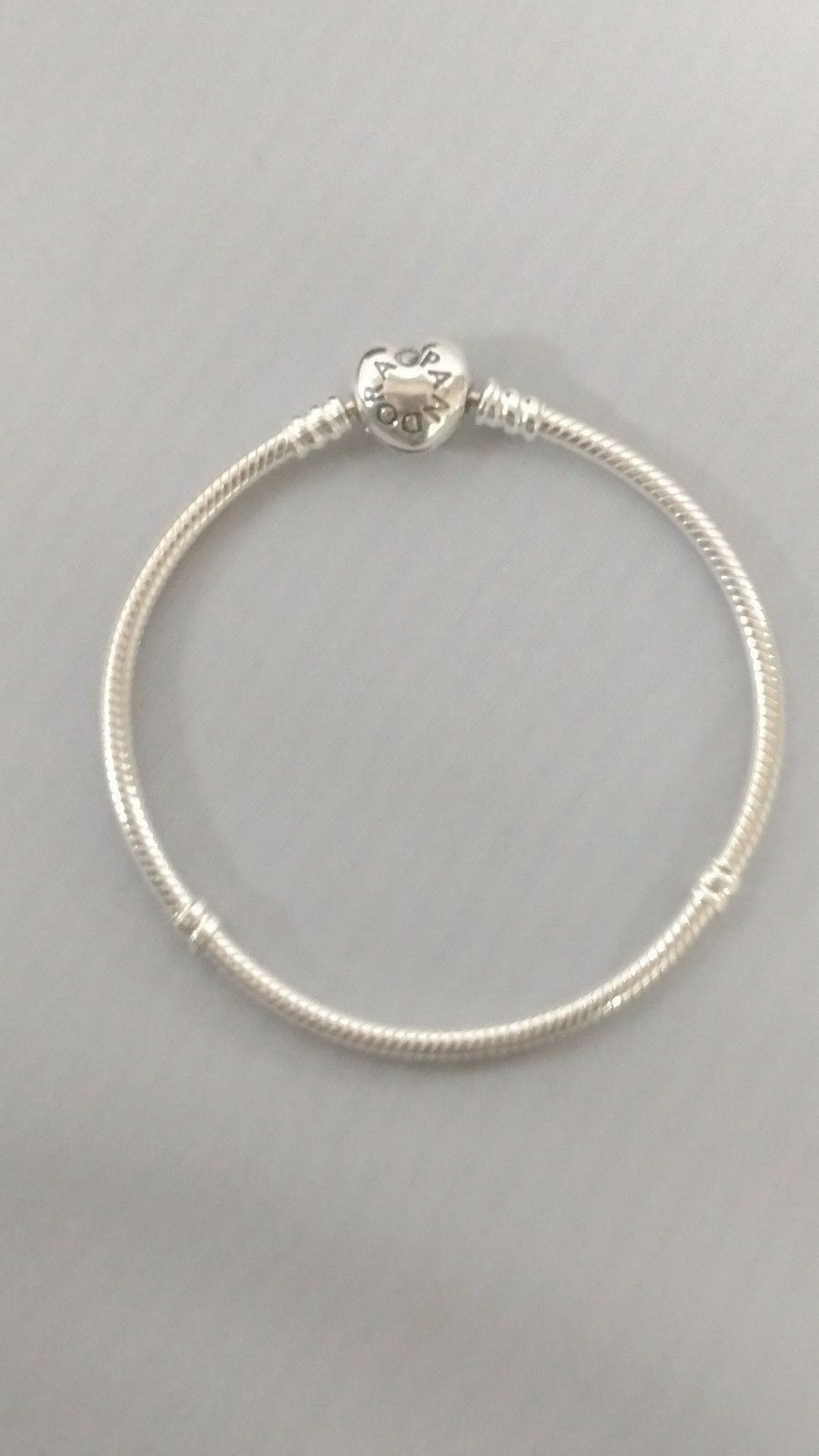 2bf3f0b91 S l1600. S l1600. Previous. PANDORA Charm Bracelet Sterling Silver With Heart  Clasp 590719 · PANDORA Charm ...