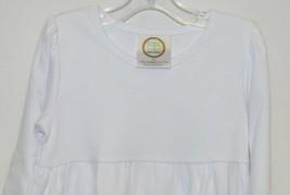 Blanks Boutique White Long Sleeve Empire Waist Ruffle Dress Size 2T image 2