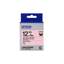12mm Black on Pink - Epson LABELWORKS LK-4PBK Ribbon Tape Cartridges (Pa... - $82.99