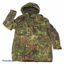 Vintage 1993 German military camouflage hooded parka Large - $39.59