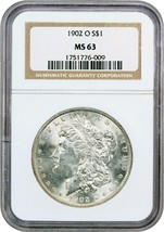 1902-O $1 NGC MS63 - Morgan Silver Dollar - $72.75