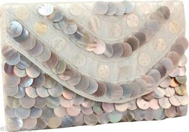 Sea of Pearls Clutch with Mother of Pearl  NEW
