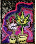 """Psychedelic Rick & Morty """"Potted"""" Painting - $36.00"""
