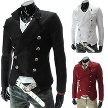2018 NEW Fashion men's double-breasted design tops coat clothes European... - $53.04
